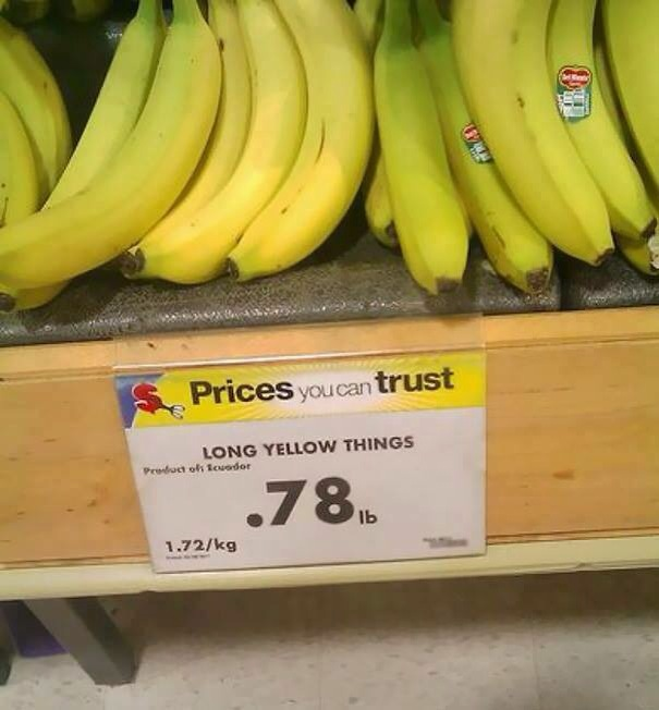 funny super market store sign